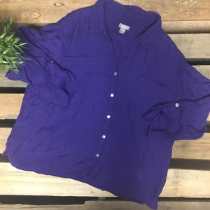 Chico purple blouse size 3